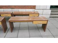 Solid walnut wood dressing tables from jury's inn hotel