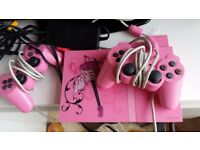 PS 2 slim console ltd edition PINK with games