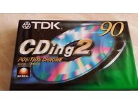 TDK CDing 2 90 CHROME HI BIAS SEALED BLANK TYPE II AUDIO RECORDING CASSETTE TAPE