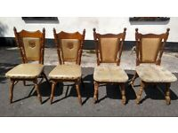 Four Solid Wood Dining Room Chairs