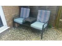 2 seater garden chair