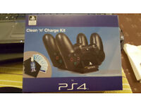 PS4 twin charging dock and cleaning kit