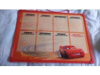 Cars board with days week on