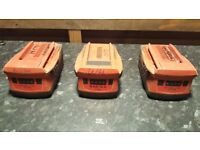 Hilti batteries 3x 2x3.3ah and one 5.2 all in good condition!Can deliver or post!