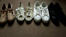 Bundle women's shoes size 8 new and used