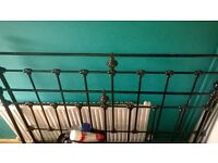brass and cast iron 1900 original bed for sale.