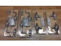 pewter effect handles & knobs for kitchen units.