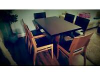 Heavy Dining table and 6 Chairs