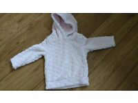 Pretty Pale Pink Cosy Hoodie, 2-3 yrs (comes up small) New, never worn