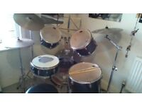 CB DRUM KIT WITH STOOL AND MUSIC STAND AND BOOKS