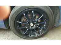 17 inch alloys with tyres