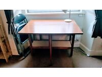 Folding table £20 (OR with two folding chairs £25 )
