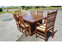 Oak Refectory Dining Table and 6 Chairs