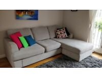 Corner sofa, fabric 4 seater