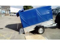 Car box Tipping Trailer SINGLE AXLE 1300 kg BRAKED !!! 253cm x 133cm loading box