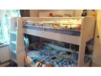 Children bunk bed white