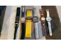 Job lot of watches d&g fcuk kickers river island