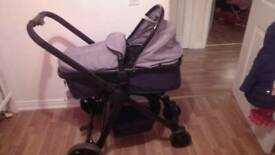 Red kitebaby pram from birth