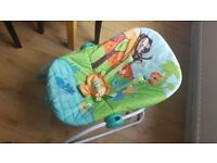 The Bright Starts Peek-a-Zoo Rocker Seat - Good Condition - From Smoke-Free Home