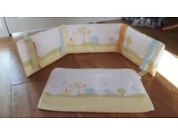 Mama's and Papa's Crib Nursury bedding set Excellent Condition