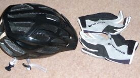 Cycling Helmet and Gloves