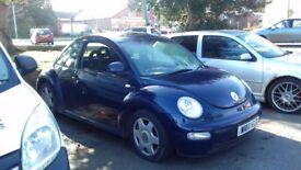 Vw beetle 2000 has a months mot taxed till August 2ltr