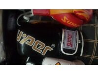 boxing gloves of good leather quality