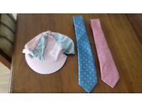 Riding crops, ties, suit carrier, riding skull cover