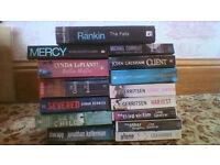 15 paperback novels + 1 hardback Ian Rankin Lots more at 30p each!