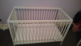 Cot/cot bed & mattress for sale £50