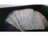 6 Pimpernel Willow Bough Green Placemats