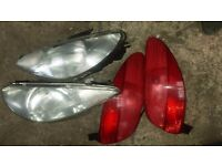 2002 Peugeot 206 back and front lights