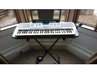 Yamaha PSR-K1, Portable Electronic Keyboard with Case, Stand and Cover. £85