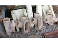 UNUSED STONE DRAINS/GARDEN PLANTERS