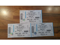 3 X COLDPLAY TICKETS Croke Park Sat 8th July SOLD OUT!