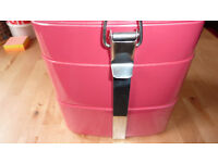Habitat Pink Picnic Tiffin Box DILLY Lunch Tray Camping Caravan Festival Fishing Party Food Chic FAB