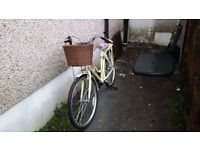 VIKING ladies bicycle, single gear, free basket, bell and reflector lights.