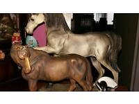 2 porcelain horse ornaments