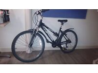 Raleigh Adults Mountain Bike, black, good condition, must get rid of by tomorrow