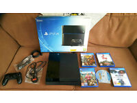Sony Playstation 4 1TB Complete Boxed Bundle with Dual Shock 2 and 6 games