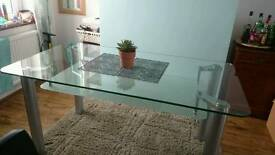2 tier glass dining table