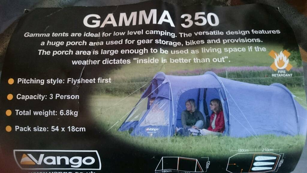 Camping Toilet Gamma : Vango gamma tent two sleeping bags in southend on sea