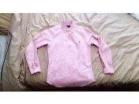 Men's Pink Ralph Lauren Shirt Slim Fit