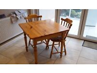 KITCHEN DINING TABLE AND 2 CHAIRS