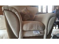 4 piece sofa suite excellent condition, 3, 2 and 1 seater + poof Cost over £2000