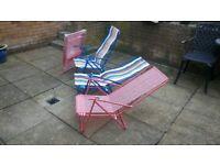 4 reclining lightweight beach chairs