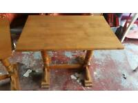 1 medium size pub table solid oak
