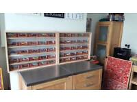 Display cases and models