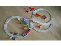 Playtive wooden train set
