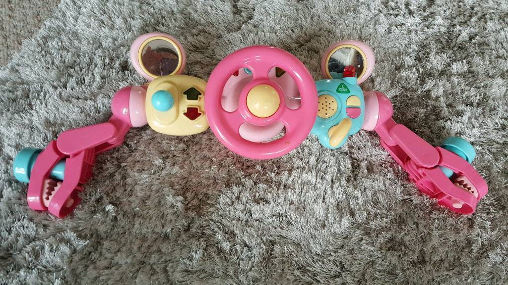 Early learning centre steering wheel for buggy